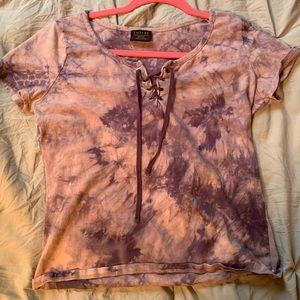 Purple Tie Dye crop top